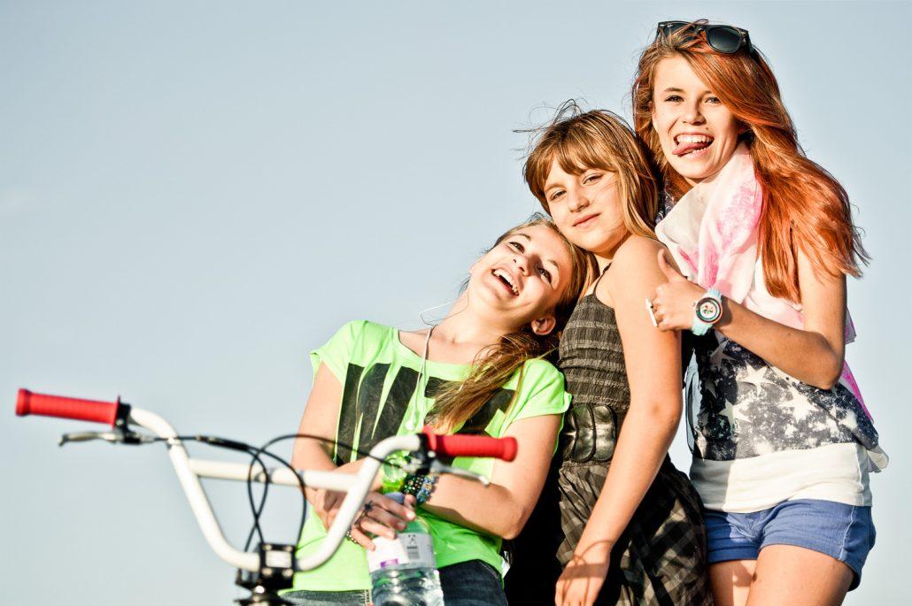 Fotoreportage mit Teenagern Fashion und Sport