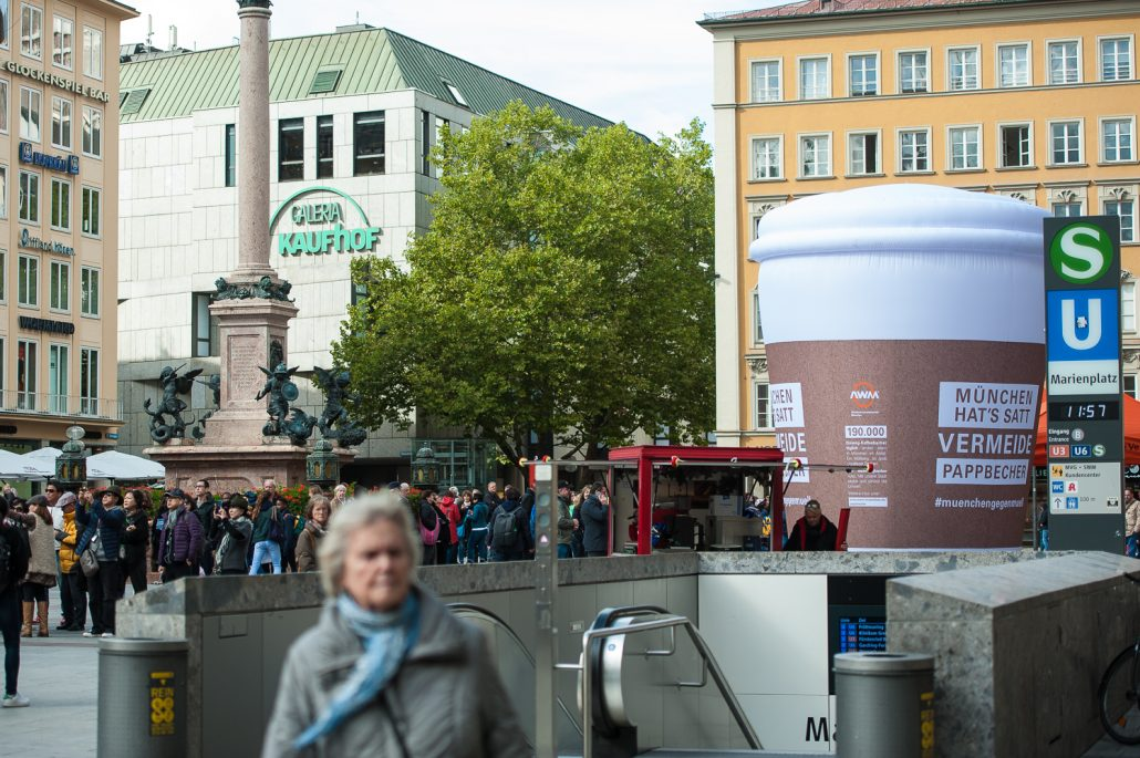 Reportage vom AWM auf dem Marienplatz in München
