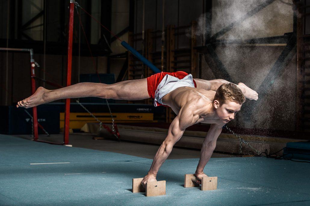 Sportfotografie von Kunsturnern